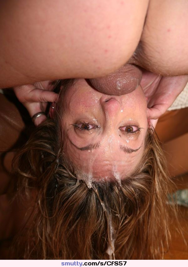 Facefuck shared double blowjob messy