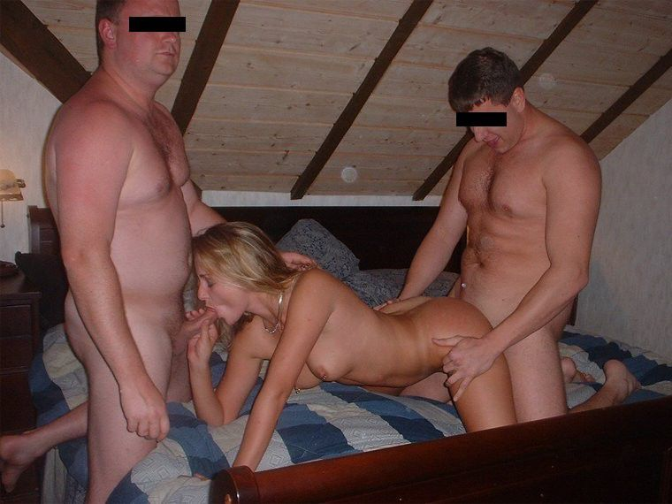 gangbang shared mmf blowjob Double