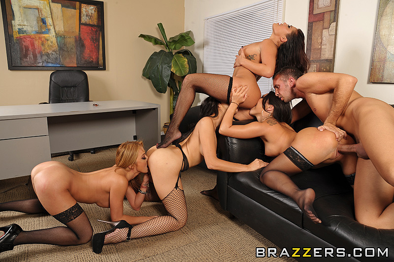 office Humilation group boobs