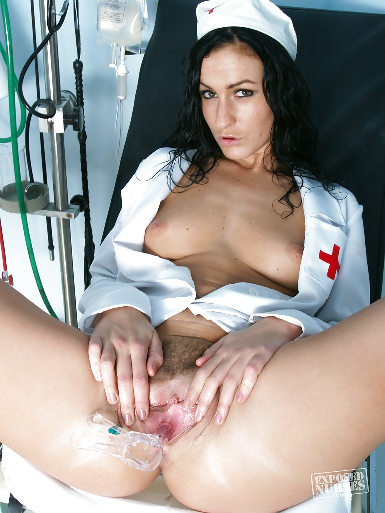nurse Brunette subway girl