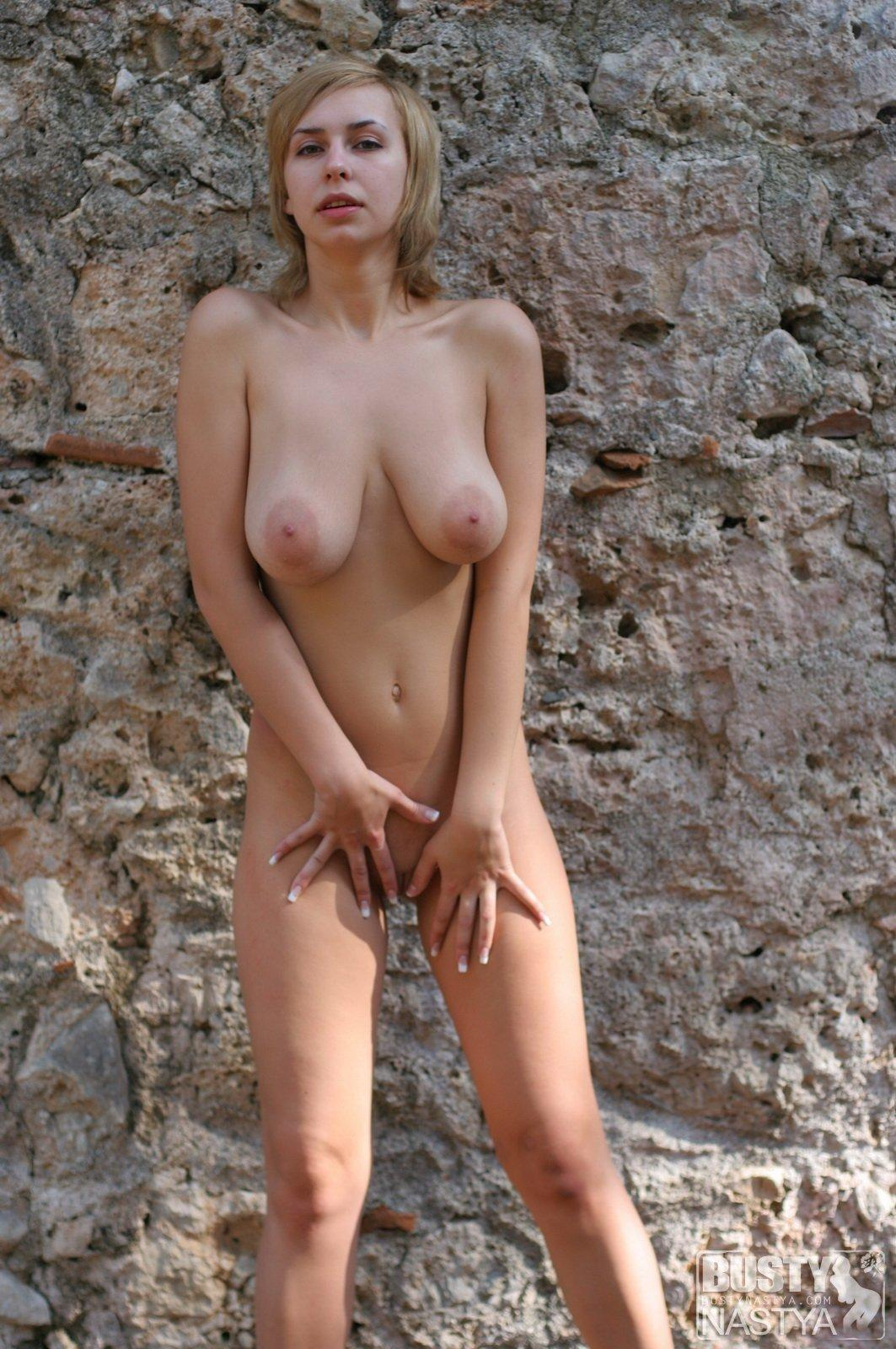 Outdoor big nipples blonde watching