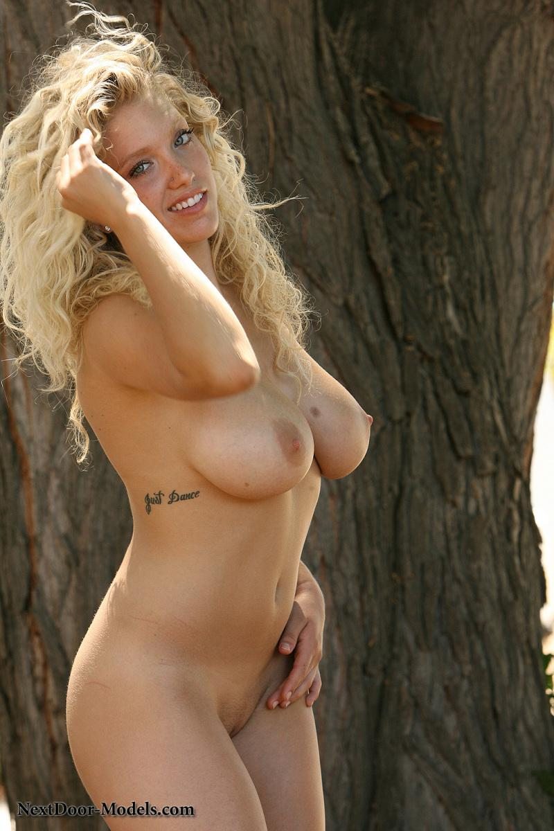 Skinny blonde makeout curly