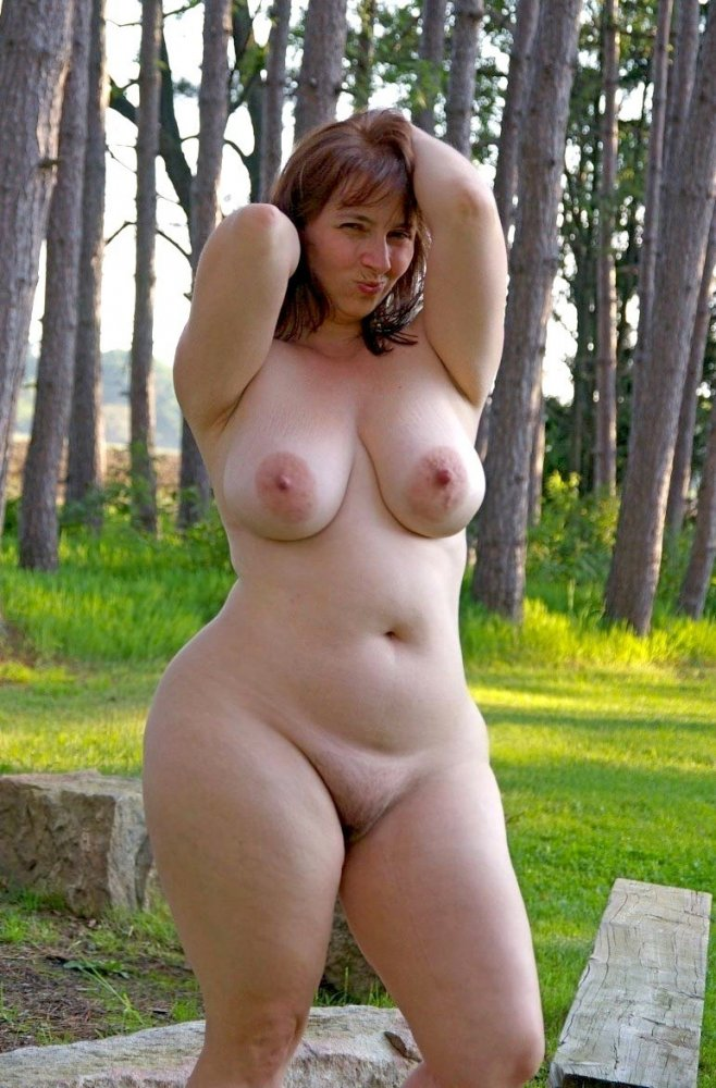outdoor Beauty woman chubby