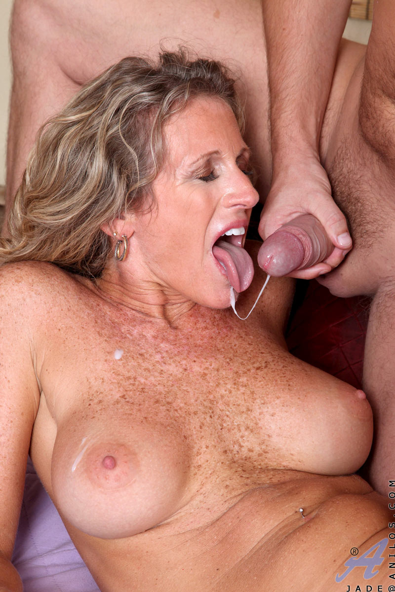 Slut freckles ejaculation mom