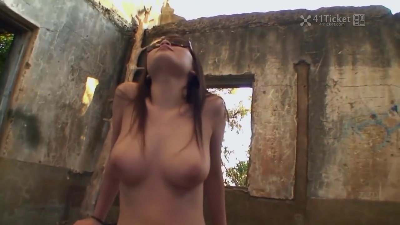 uncut busty Anal outdoor