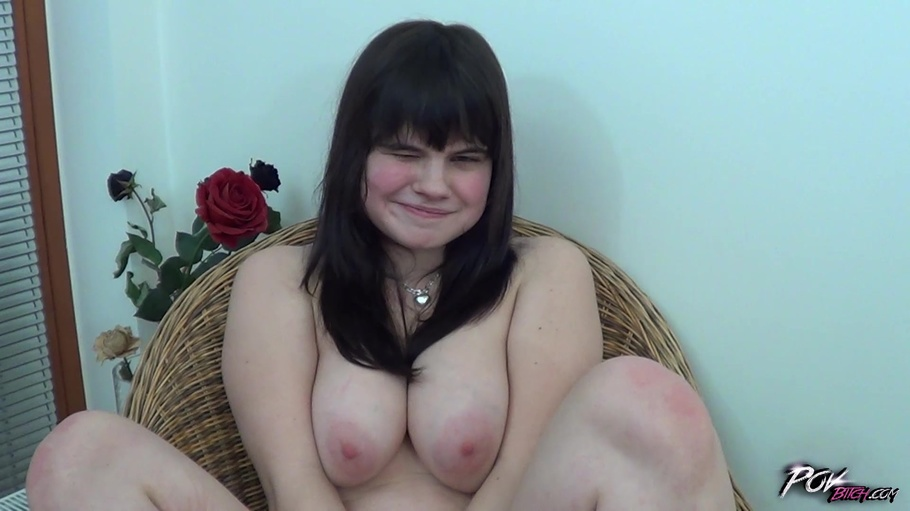 POV Young beauty chubby